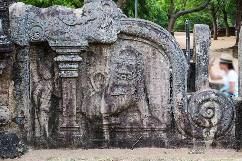 Relief at Lankatilaka Vihara Entrance