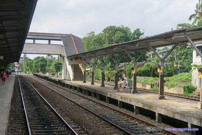 Tracks at Ambalangoda Railway Station