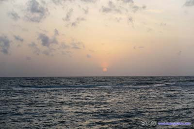 Sunset over Indian Ocean