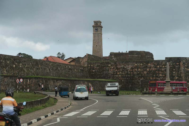 Galle Lighthouse among Bastions
