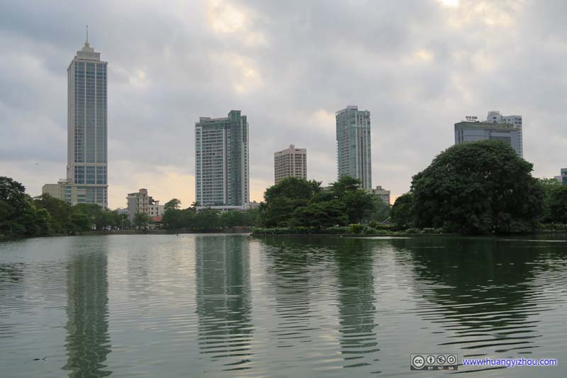 Skyscrapers across Lake