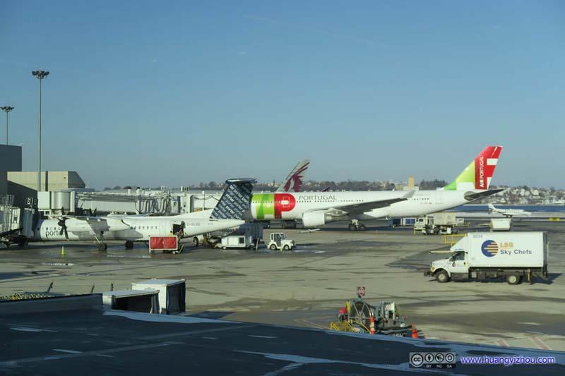 Planes at Boston Airport Terminal E