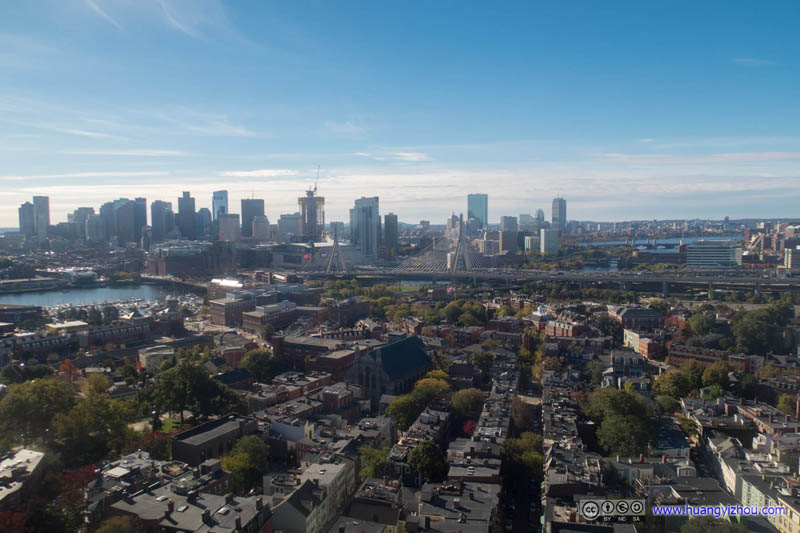 Downtown Boston and Charles River