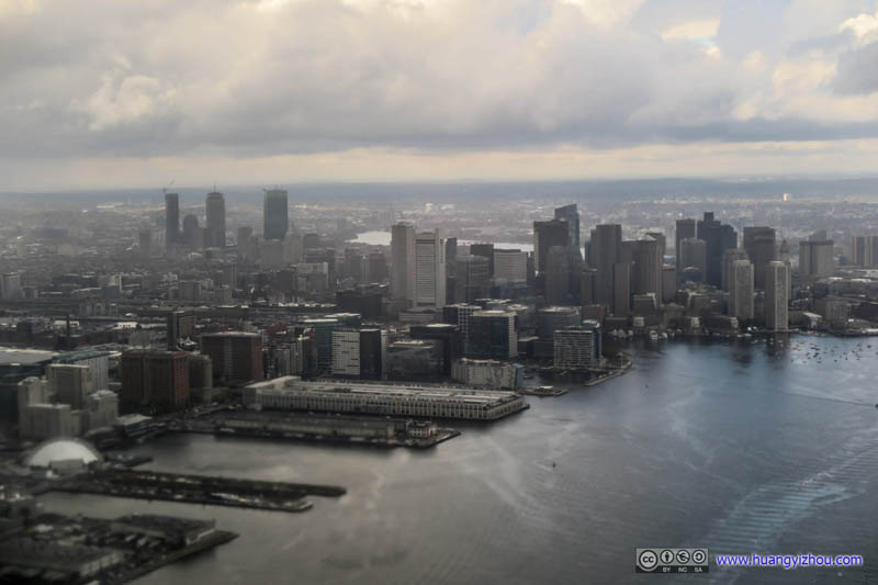 Downtown Boston under Clouds