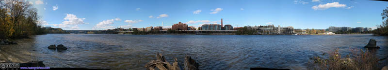 Georgetown Waterfront from Theodore Roosevelt Island