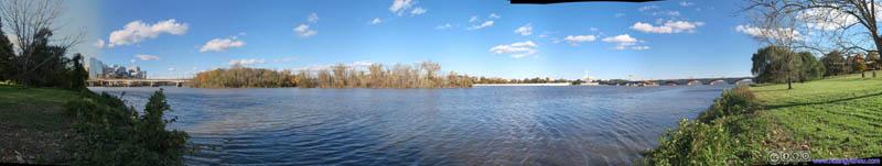 Theodore Roosevelt Island across Potomac River