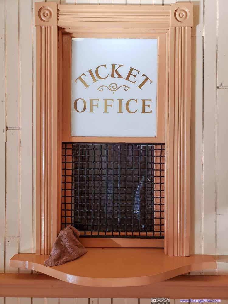 Antique Ticket Office Window