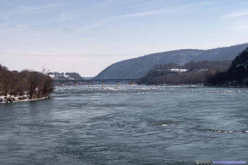 Distant Sandy Hook Bridge