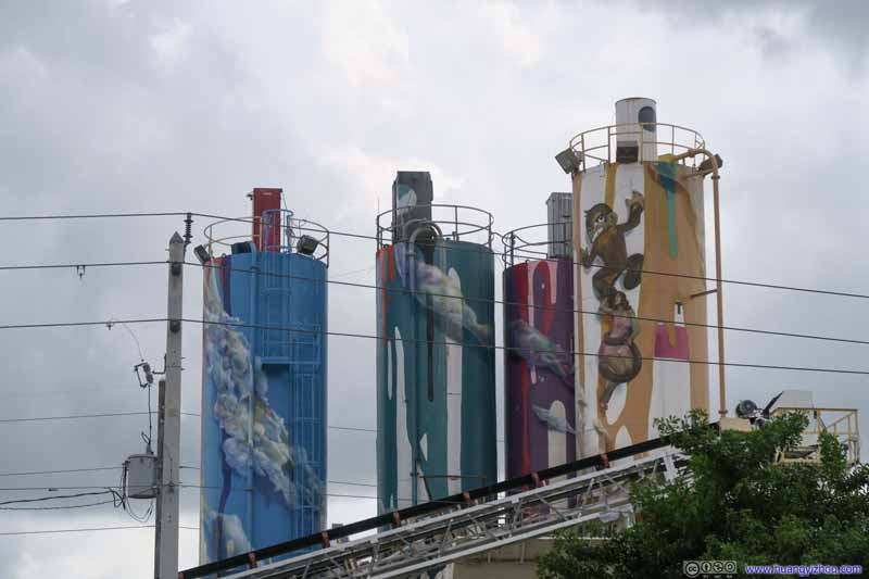 Decorated Factory Towers