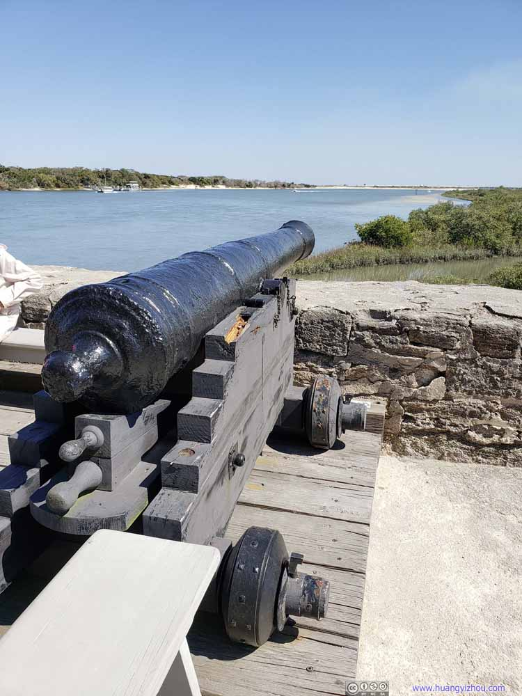 Cannon Pointing at Matanzas Inlet