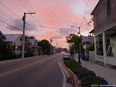 Streets under Fiery Clouds