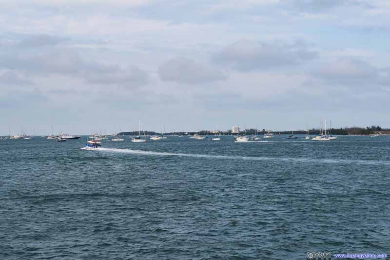 Boats off Key West Harbor