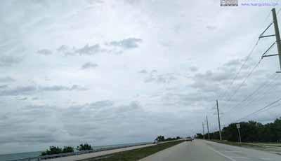 Ocean next to Highway