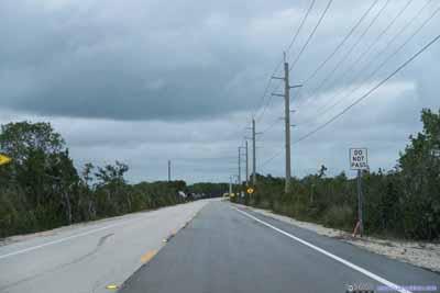 Road in North Key Largo