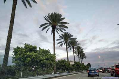 Traffic on Highway onto Miami Beach Island