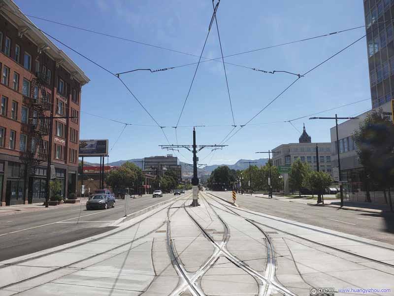 Tram Tracks at University Boulevard