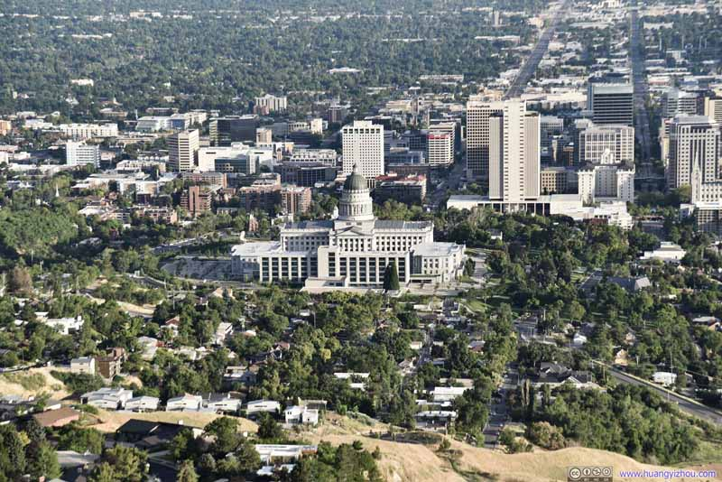 Overlooking Utah State Capitol Building
