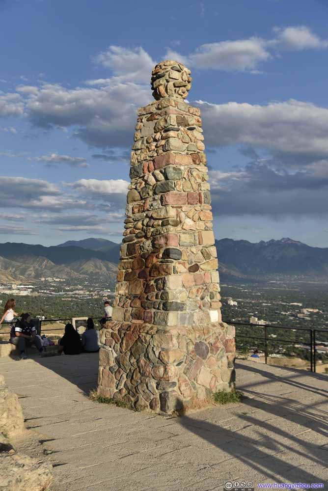 Monument on Ensign Peak