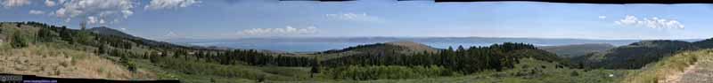 Overlooking Bear Lake