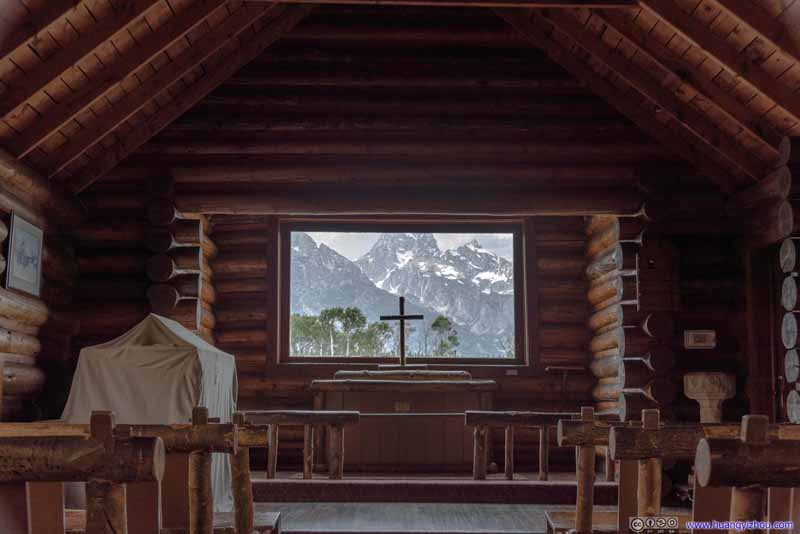 View of Grand Teton from Chapel Window
