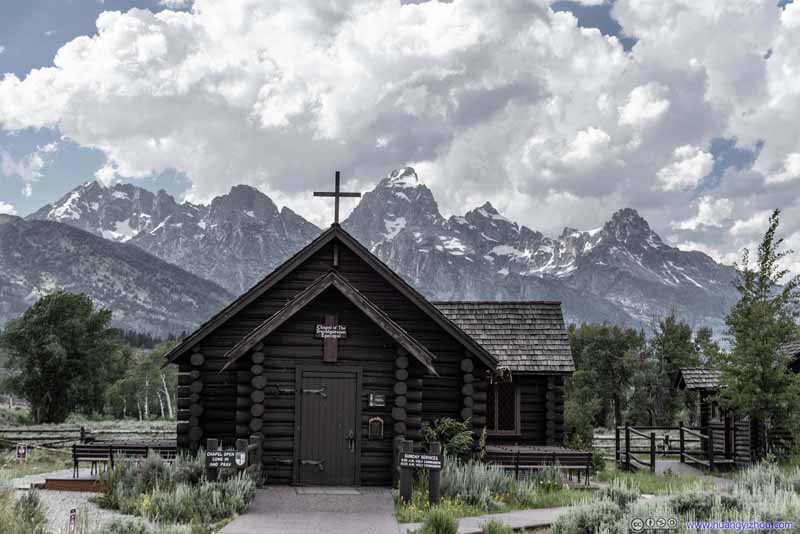 Chapel of the Transfiguration before Grand Teton Peak