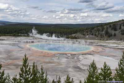 Overlooking Grand Prismatic Spring