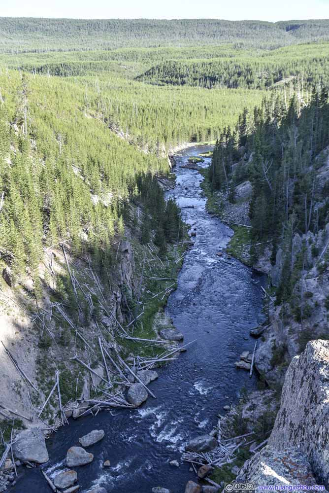 Gibbon River downstream from Gibbon Falls