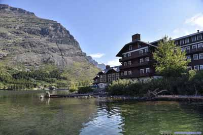 Many Glacier Hotel by Water
