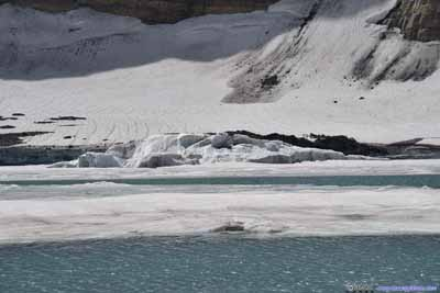 Ice Breaking Off Grinnell Glacier