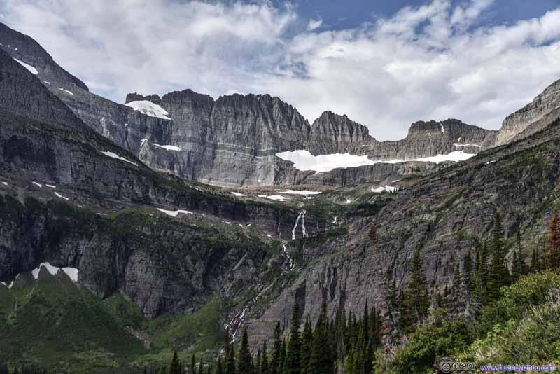 Salamander Glacier and Grinnell Falls