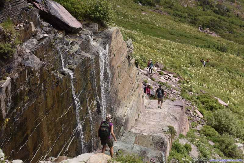 Trail through Waterfall