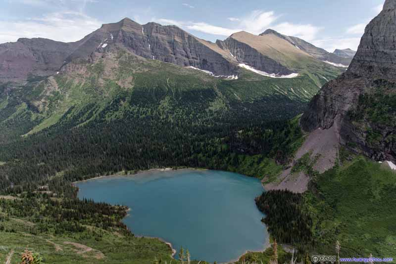 Grinnell Lake among Mountains