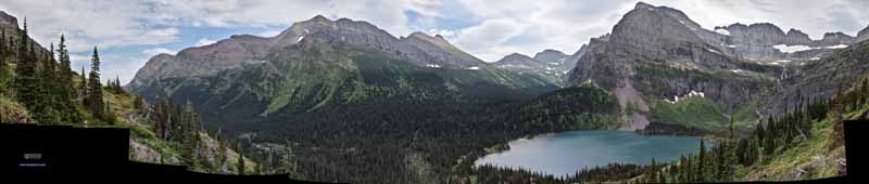 Grinnell Lake and Surrounding Mountains