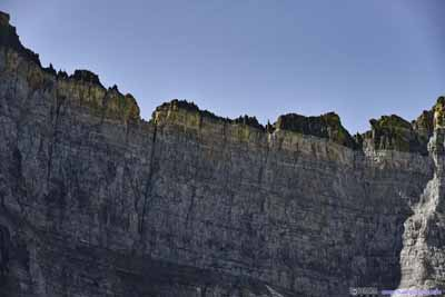 Layered Rocks of Ptarmigan Wall