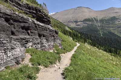 Trail by Rocks