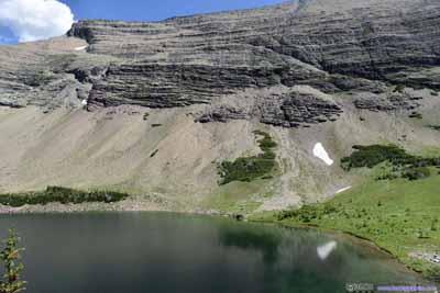 Ptarmigan Lake and Crowfeet Mountain