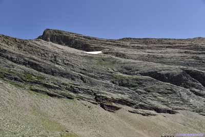 Snow Patch and Rocks of Crowfeet Mountain