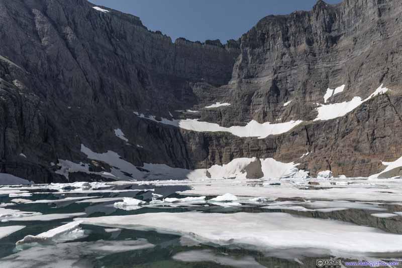 Iceberg Lake below Ptarmigan Wall