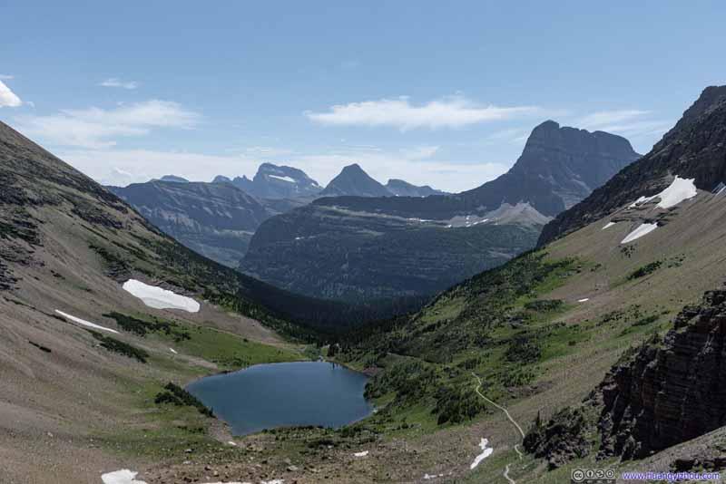 Ptarmigan Lake and Layers of Mountains