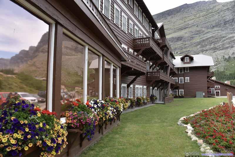 Flowers Decorating Many Glacier Hotel