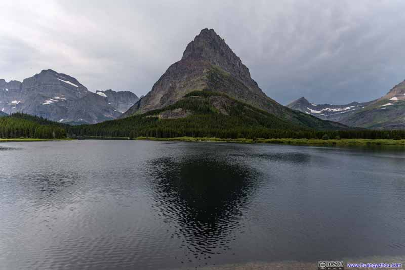 Grinnell Point across Swiftcurrent Lake