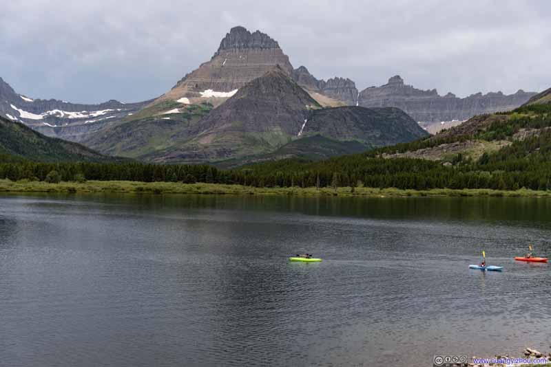 Mount Wilbur across Swiftcurrent Lake