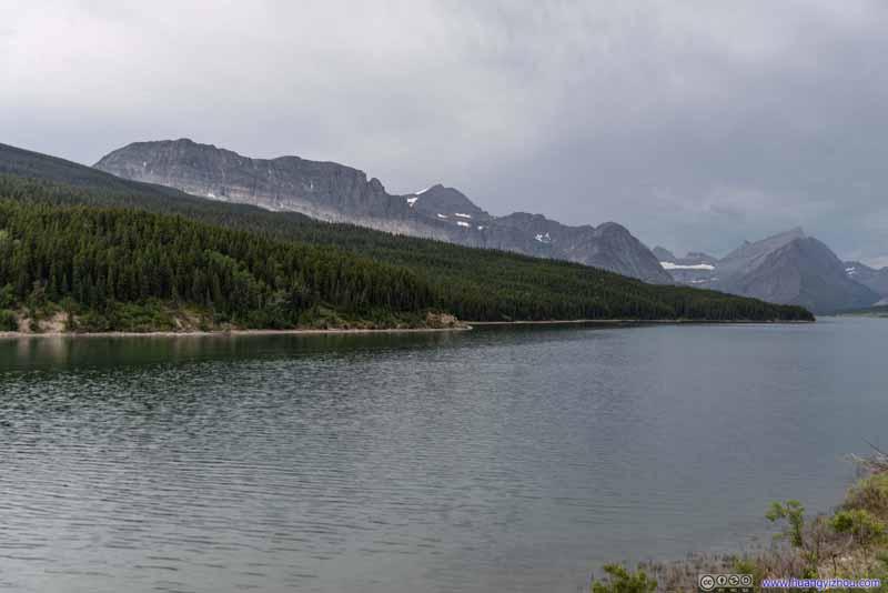 Mountains across Lake Sherburne