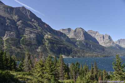 Mountains by Saint Mary Lake