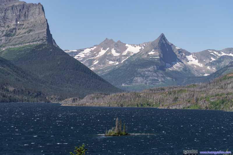 Wild Goose Island in Saint Mary lake
