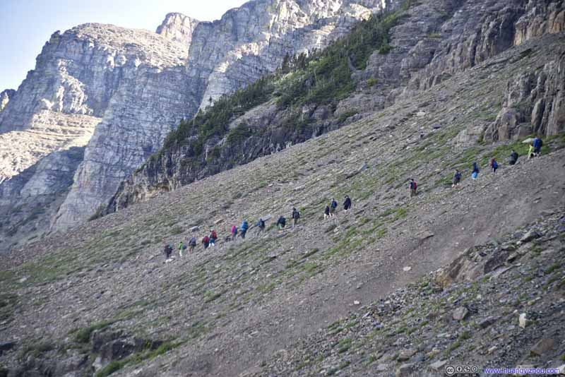 Hikers on Highline Trail