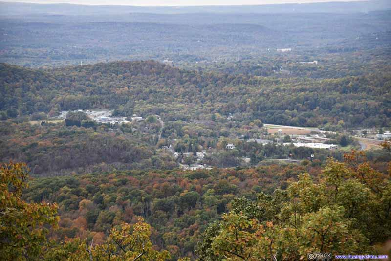 Village of Delaware Water Gap among Forest