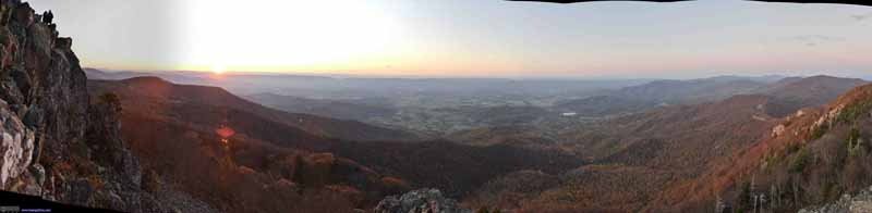 Sunset from Stony Man Overlook