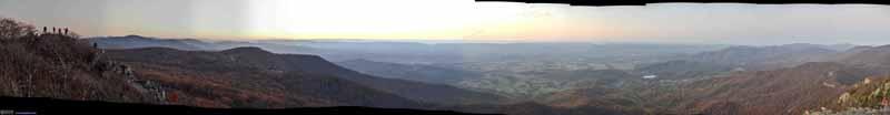 Sunset Glow from Stony Man Overlook
