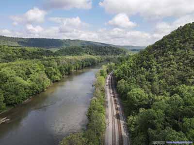 Railway by Potomac River